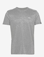 Alpha Industries - Basic T Small Logo - perus t-paidat - greyheather/white - 0