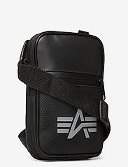 Alpha Industries - Utility Bag Reflective - olkalaukut - black - 2