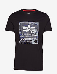 Alpha Industries - Camo Block T - lyhythihaiset - black - 0