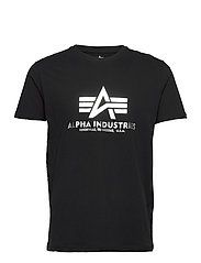 Basic T-Shirt Foil Print - BLACK/METALSILVER