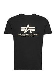 Basic T-Shirt Foil Print - BLACK/YELLOW GOLD