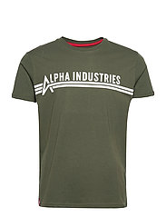 Alpha Industries T - DARK OLIVE
