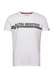 Alpha Industries T - WHITE/BLACK