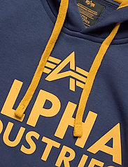 Alpha Industries - Foam Print Hoody - hupparit - new navy - 2