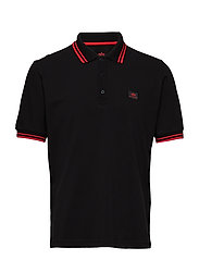 Twin Stripe Polo II - BLACK/RED