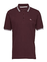 Twin Stripe Polo II - DEEP MAROON