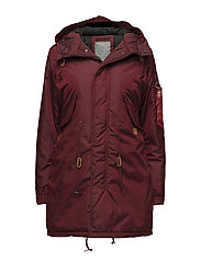 Fishtail CW TT Wmn - BURGUNDY