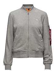X-Fit Sweat Jkt MA-1 Wmn - GREY HEATHER