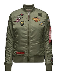MA-1 VF Patch Wmn - SAGE-GREEN