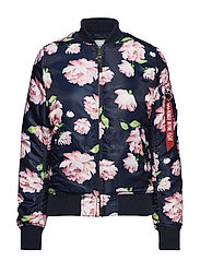 MA-1 VF Flowerprint Wmn - REP.BLUE