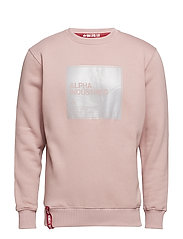 Label Sweater - SILVER PINK