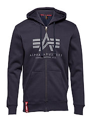 Basic Zip Hoody - REP.BLUE