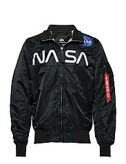 NASA Jacket Flight Nylon - BLACK