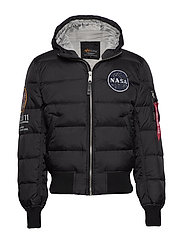 Hooded Puffer Apollo 11 - BLACK