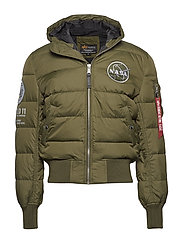 Hooded Puffer Apollo 11 - DARK GREEN