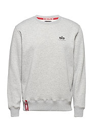 Basic Sweater Small Logo - GREY HEATHER