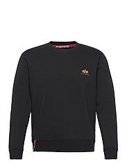 Basic Sweater Small Logo Neon Print - BLACK/NEON ORANGE