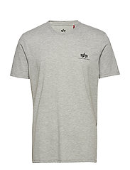 Basic T Small Logo - GREY HEATHER
