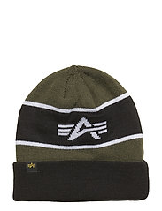 Block Beanie - DARK GREEN