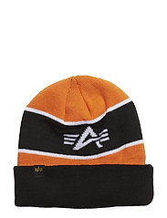 Block Beanie - FLAME ORANGE