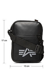 Alpha Industries - Utility Bag Reflective - olkalaukut - black - 4