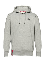 Basic Hoody Small Logo - GREY HEATHER