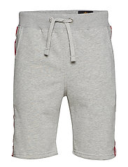 RBF Tape Jogger Short - GREY HEATHER