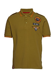 Air Crew Polo - KHAKI GREEN