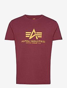 Basic T-Shirt - lyhythihaiset - burgundy