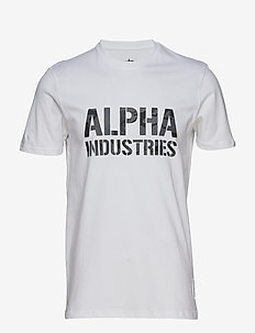 Camo Print T - logo t-shirts - white