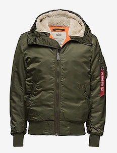 MA-1 Hooded - bomberjackor - dark green