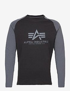 Basic LS - langermede t-skjorter - black/greyblack
