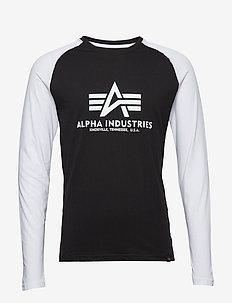 Basic LS - langermede t-skjorter - black/white