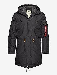 Hooded Fishtail CW TT - BLACK