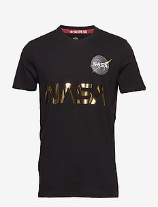 NASA Reflective T - logo t-shirts - black/gold