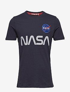 NASA Reflective T - logo t-shirts - rep.blue