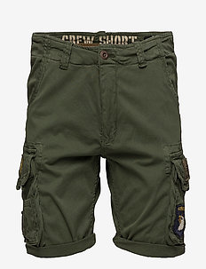 Crew Short Patch - casual shorts - dark olive