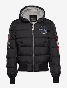 Hooded Puffer Apollo 11 - fodrade jackor - black