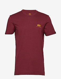 Basic T Small Logo - t-shirts - burgundy