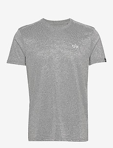 Basic T Small Logo - t-shirts - greyheather/white