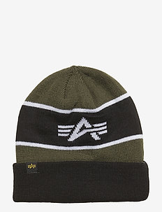 Block Beanie - luer - dark green
