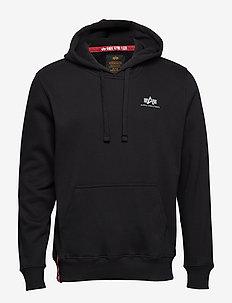 Basic Hoody Small Logo - hættetrøjer - black
