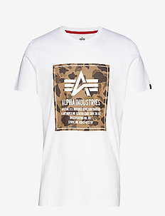 Camo Block T - t-shirts - white