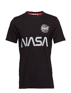 NASA Reflective T - logo t-shirts - black