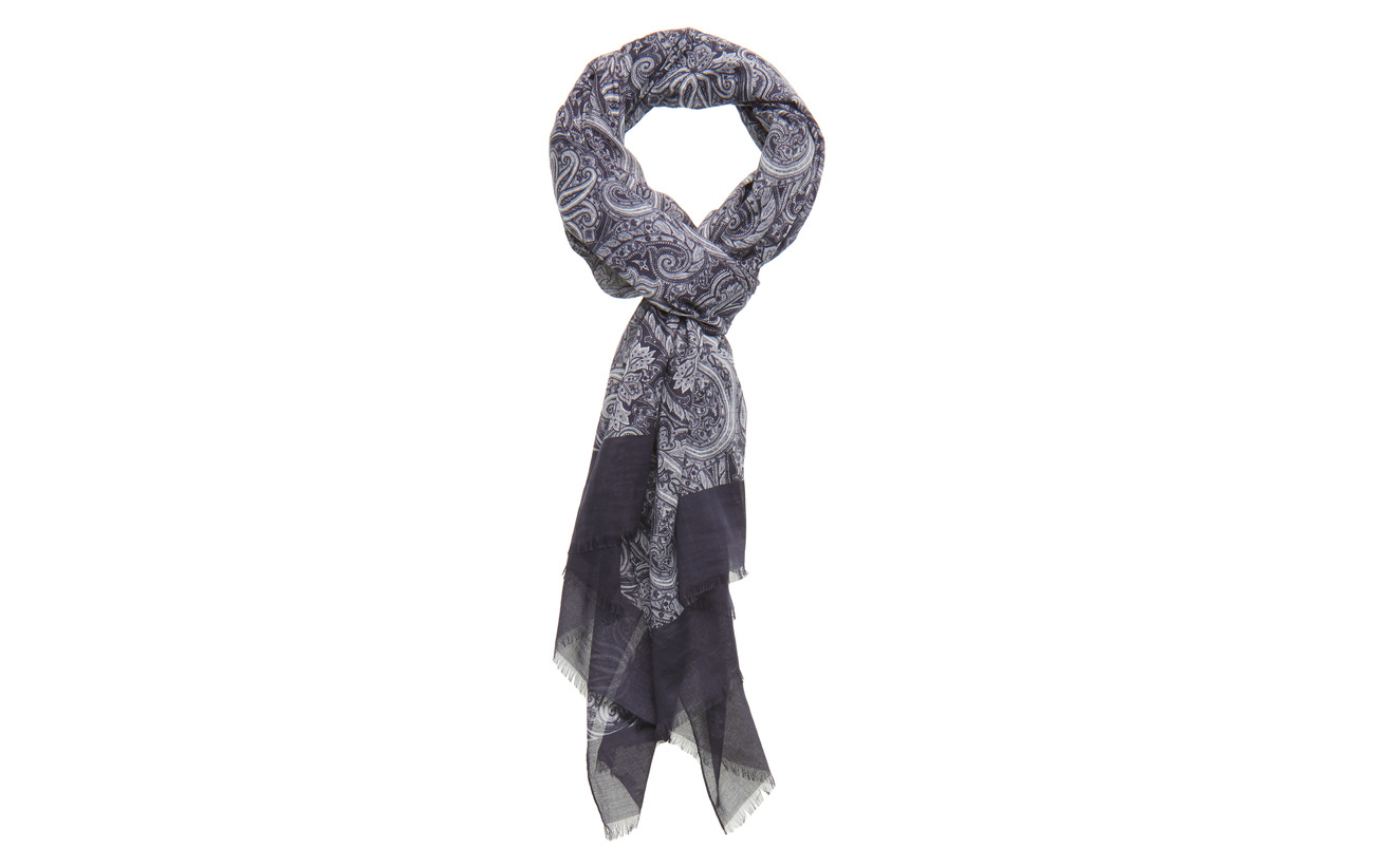 Amanda Christensen Printed Single Scarf - NAVY