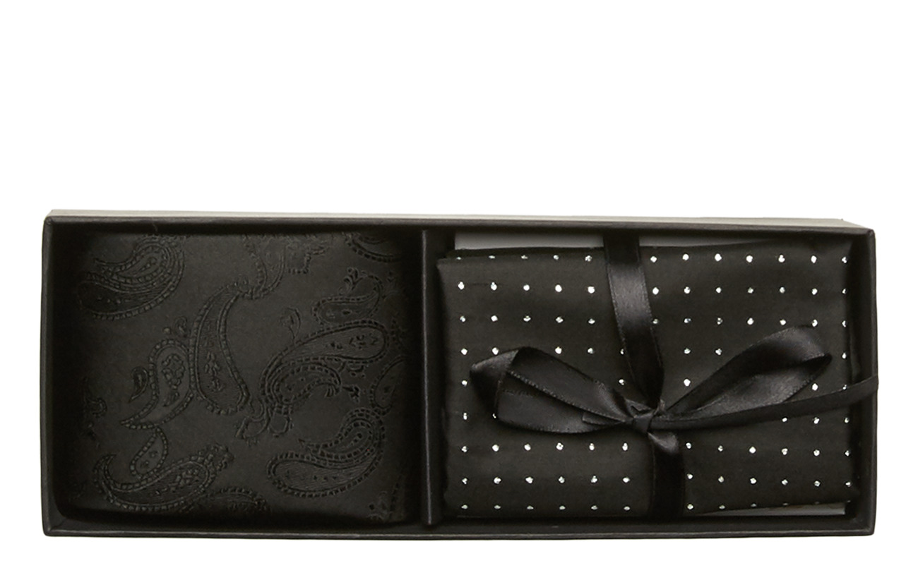 Amanda Christensen Tie & Pocket Square - BLACK