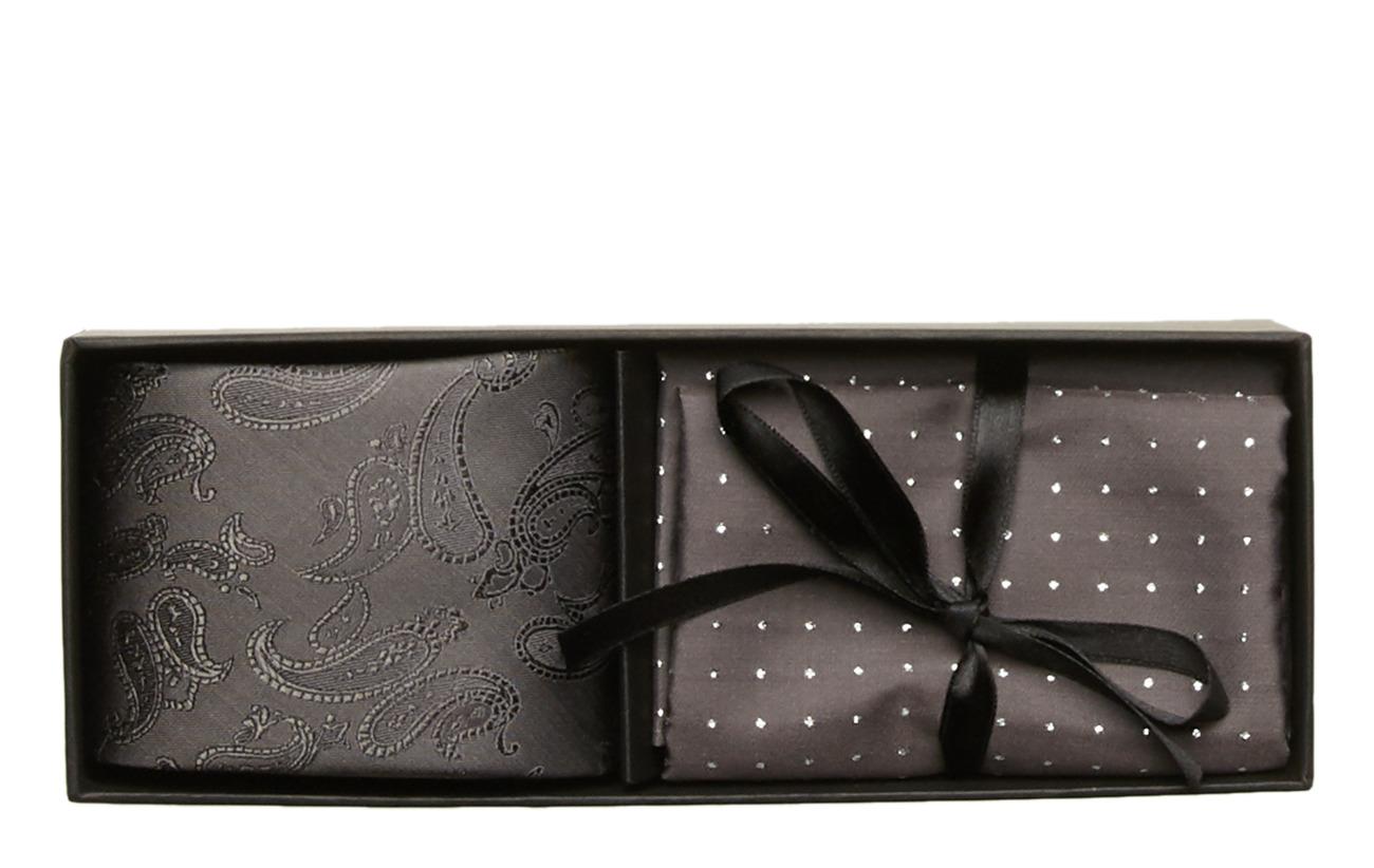 Amanda Christensen Tie & Pocket Square - GREY