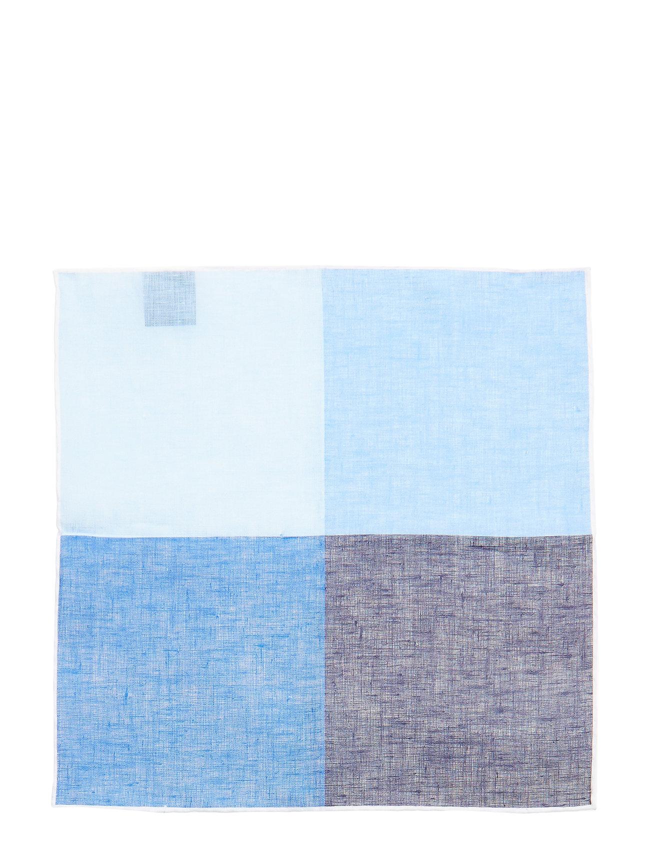 Printed Pocket Square Brystlommetørklæde Blå AMANDA CHRISTENSEN