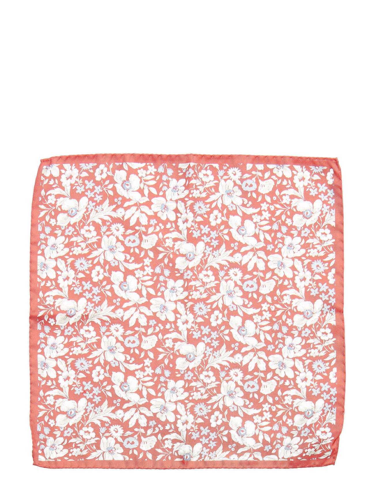 Printed Pocket Square Brystlommetørklæde Rød Amanda Christensen
