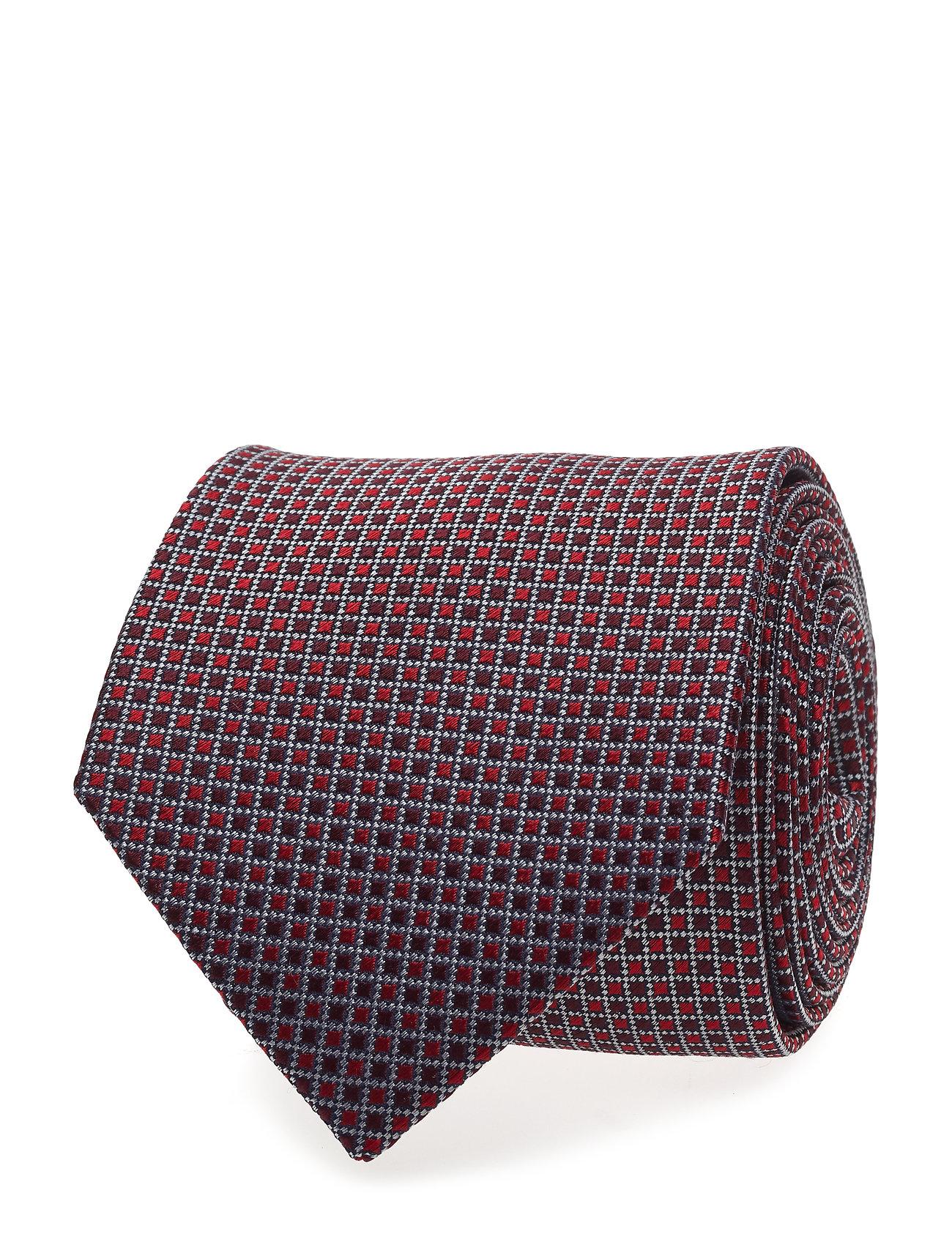 Tie & Pocket Square Box Brystlommetørklæde Rød Amanda Christensen
